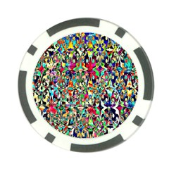 Psychedelic Background Poker Chip Card Guard by Colorfulart23
