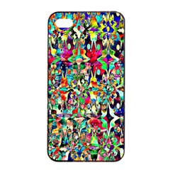 Psychedelic Background Apple Iphone 4/4s Seamless Case (black) by Colorfulart23