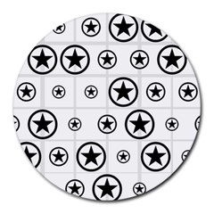Army Stars Round Mousepads by linceazul