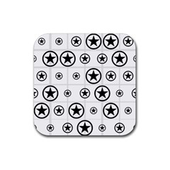Army Stars Rubber Coaster (square)  by linceazul