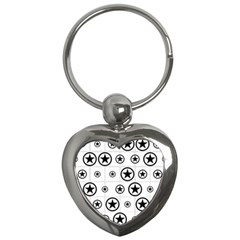 Army Stars Key Chains (heart)  by linceazul