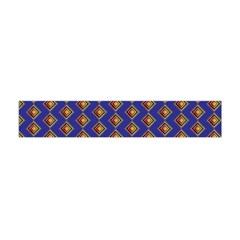 Blue Geometric Losangle Pattern Flano Scarf (mini) by paulaoliveiradesign