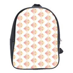 Geometric Losangle Pattern Rosy School Bags(large)  by paulaoliveiradesign