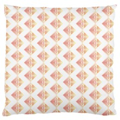 Geometric Losangle Pattern Rosy Large Flano Cushion Case (two Sides) by paulaoliveiradesign