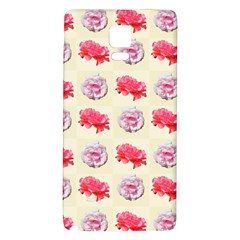 Yellow Floral Roses Pattern Galaxy Note 4 Back Case by paulaoliveiradesign
