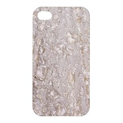Off White Lace Pattern Apple Iphone 4/4s Premium Hardshell Case by paulaoliveiradesign