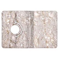 Off White Lace Pattern Kindle Fire Hdx Flip 360 Case by paulaoliveiradesign