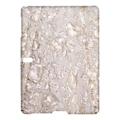 Off White Lace Pattern Samsung Galaxy Tab S (10 5 ) Hardshell Case  by paulaoliveiradesign