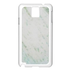 Greenish Marble Texture Pattern Samsung Galaxy Note 3 N9005 Case (white) by paulaoliveiradesign