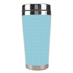 Blue Pattern Stainless Steel Travel Tumblers by paulaoliveiradesign