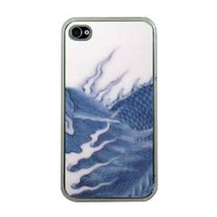 Blue Chinese Dragon Apple Iphone 4 Case (clear) by paulaoliveiradesign