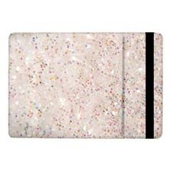 White Sparkle Glitter Pattern Samsung Galaxy Tab Pro 10 1  Flip Case by paulaoliveiradesign