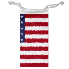 Flag Of The United States America Jewelry Bag by paulaoliveiradesign