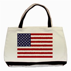 Flag Of The United States America Basic Tote Bag by paulaoliveiradesign