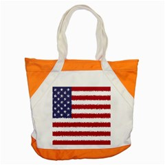 Flag Of The United States America Accent Tote Bag by paulaoliveiradesign