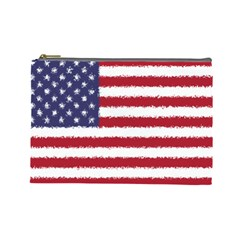 Flag Of The United States America Cosmetic Bag (large)  by paulaoliveiradesign