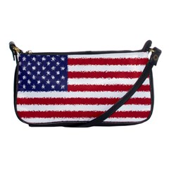 Flag Of The United States America Shoulder Clutch Bags by paulaoliveiradesign