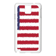 Flag Of The United States America Samsung Galaxy Note 3 N9005 Case (white) by paulaoliveiradesign