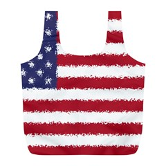Flag Of The United States America Full Print Recycle Bags (l)  by paulaoliveiradesign