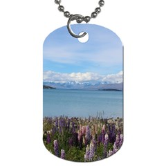 Lake Tekapo New Zealand Landscape Photography Dog Tag (two Sides) by paulaoliveiradesign