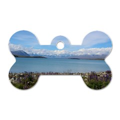 Lake Tekapo New Zealand Landscape Photography Dog Tag Bone (one Side) by paulaoliveiradesign