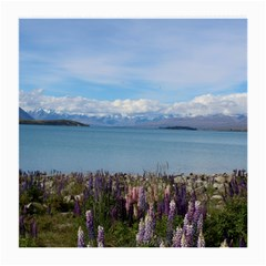 Lake Tekapo New Zealand Landscape Photography Medium Glasses Cloth by paulaoliveiradesign