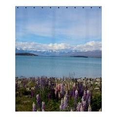 Lake Tekapo New Zealand Landscape Photography Shower Curtain 60  X 72  (medium)  by paulaoliveiradesign