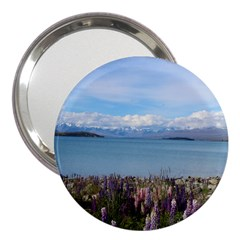 Lake Tekapo New Zealand Landscape Photography 3  Handbag Mirrors by paulaoliveiradesign