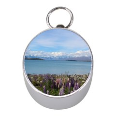 Lake Tekapo New Zealand Landscape Photography Mini Silver Compasses by paulaoliveiradesign
