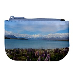 Lake Tekapo New Zealand Landscape Photography Large Coin Purse by paulaoliveiradesign