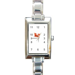 Animal Image Fox Rectangle Italian Charm Watch by BangZart