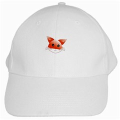 Animal Image Fox White Cap by BangZart