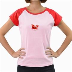 Animal Image Fox Women s Cap Sleeve T Shirt