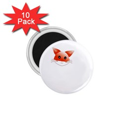 Animal Image Fox 1 75  Magnets (10 Pack)  by BangZart