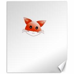 Animal Image Fox Canvas 8  X 10