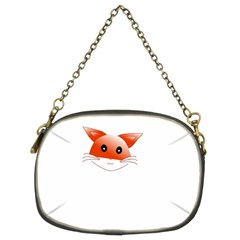 Animal Image Fox Chain Purses (two Sides)