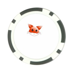 Animal Image Fox Poker Chip Card Guard (10 Pack)
