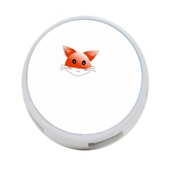 Animal Image Fox 4 Port Usb Hub (two Sides)