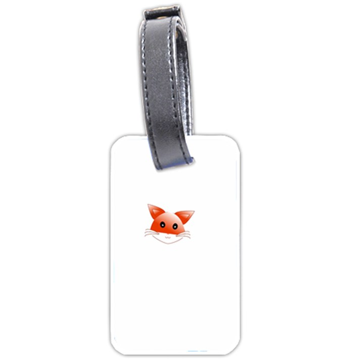 Animal Image Fox Luggage Tags (One Side)