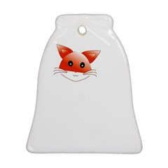 Animal Image Fox Bell Ornament (two Sides)