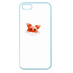 Animal Image Fox Apple Seamless Iphone 5 Case (color)