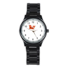 Animal Image Fox Stainless Steel Round Watch by BangZart