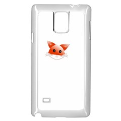 Animal Image Fox Samsung Galaxy Note 4 Case (white)