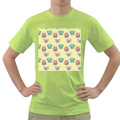 Animals Pastel Children Colorful Green T Shirt by BangZart