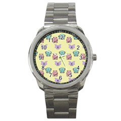 Animals Pastel Children Colorful Sport Metal Watch by BangZart