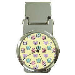 Animals Pastel Children Colorful Money Clip Watches