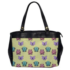 Animals Pastel Children Colorful Office Handbags by BangZart