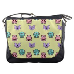 Animals Pastel Children Colorful Messenger Bags by BangZart