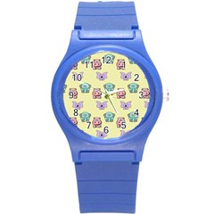 Animals Pastel Children Colorful Round Plastic Sport Watch (s) by BangZart