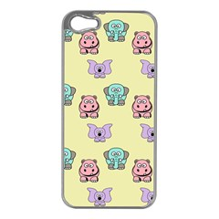 Animals Pastel Children Colorful Apple Iphone 5 Case (silver) by BangZart